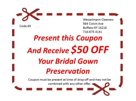 Wesselmann Cleaners Coupon North Park Erie County